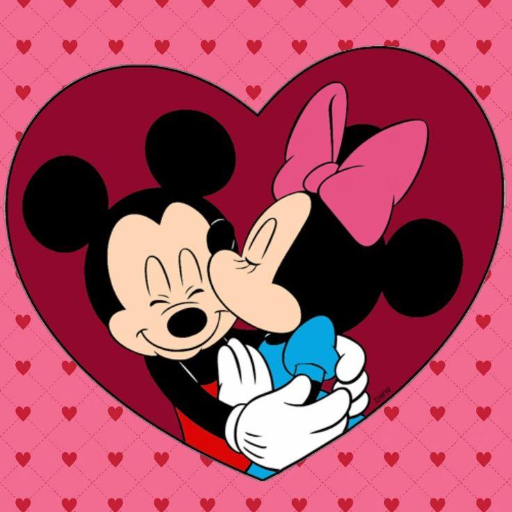Микки и Минни Маус любовь