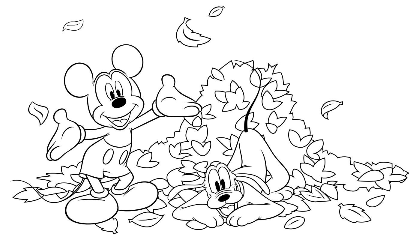 Раскраска Плуто и Мики