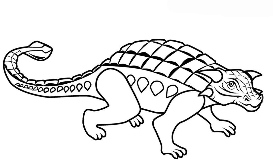 раскраска анкилозавр 2