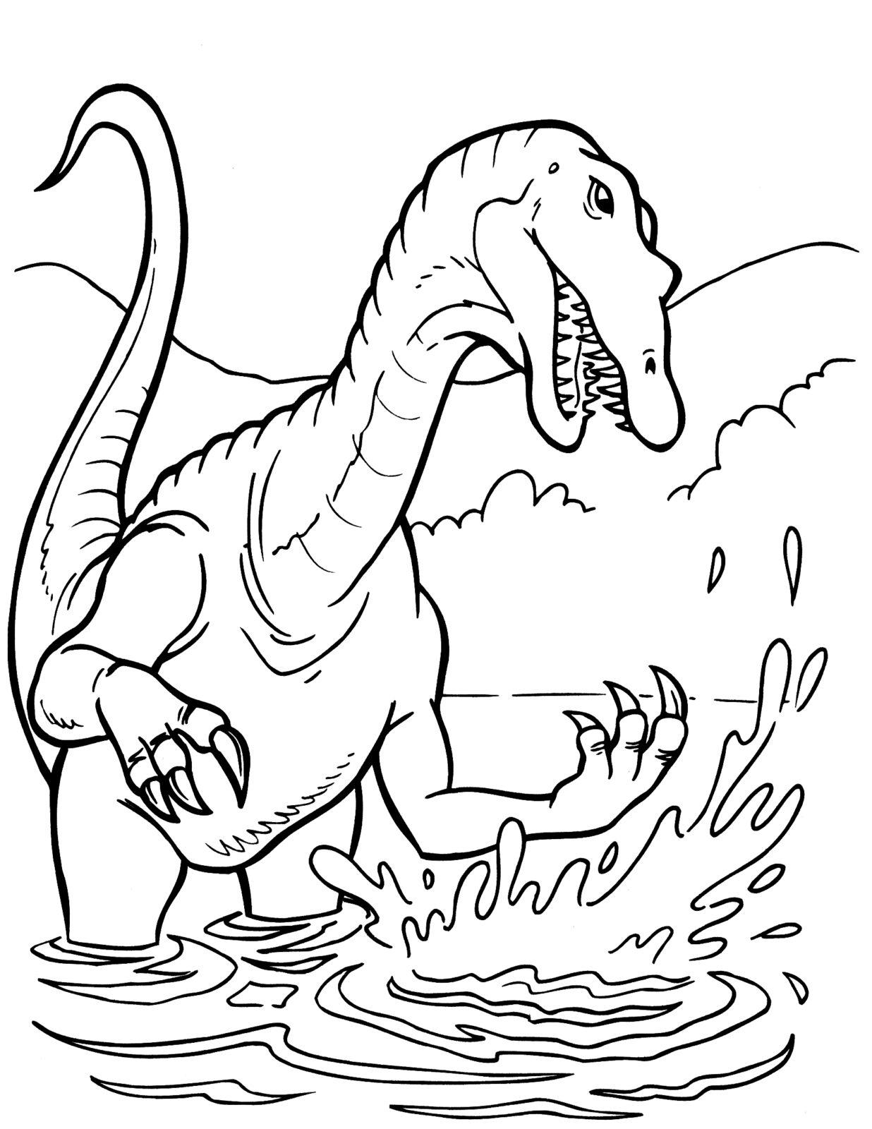 Раскраска динозавр 111
