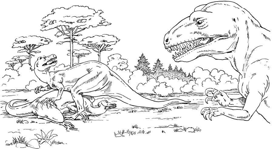 Раскраска динозавры 11