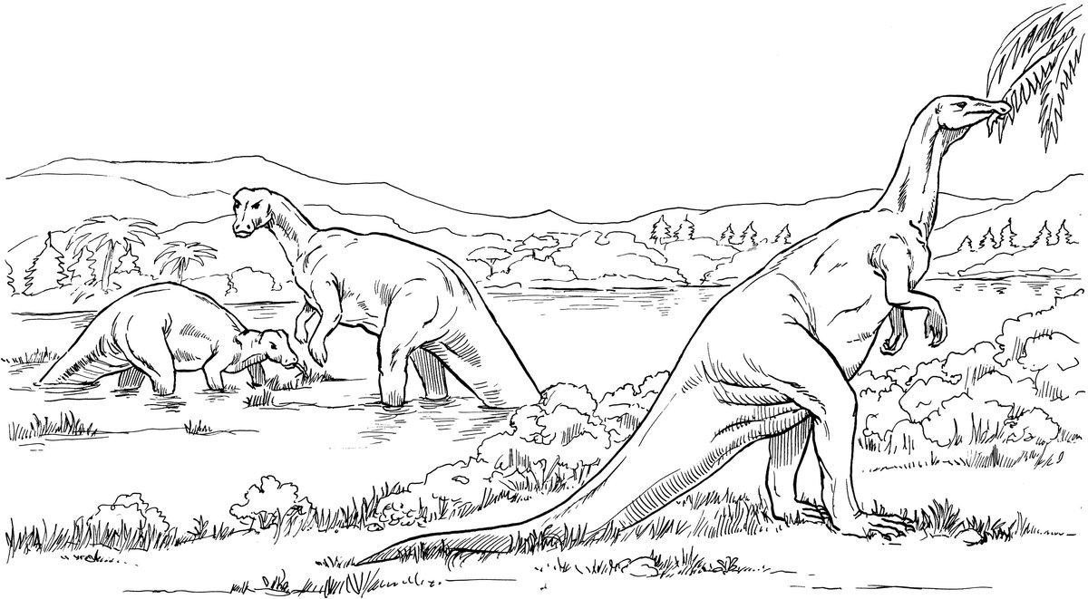 раскраска динозавры 5