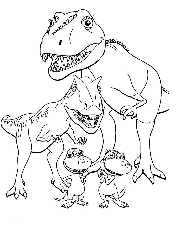 Раскраска динозавры 6