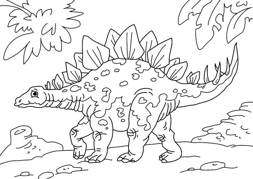 раскраска стегозавр