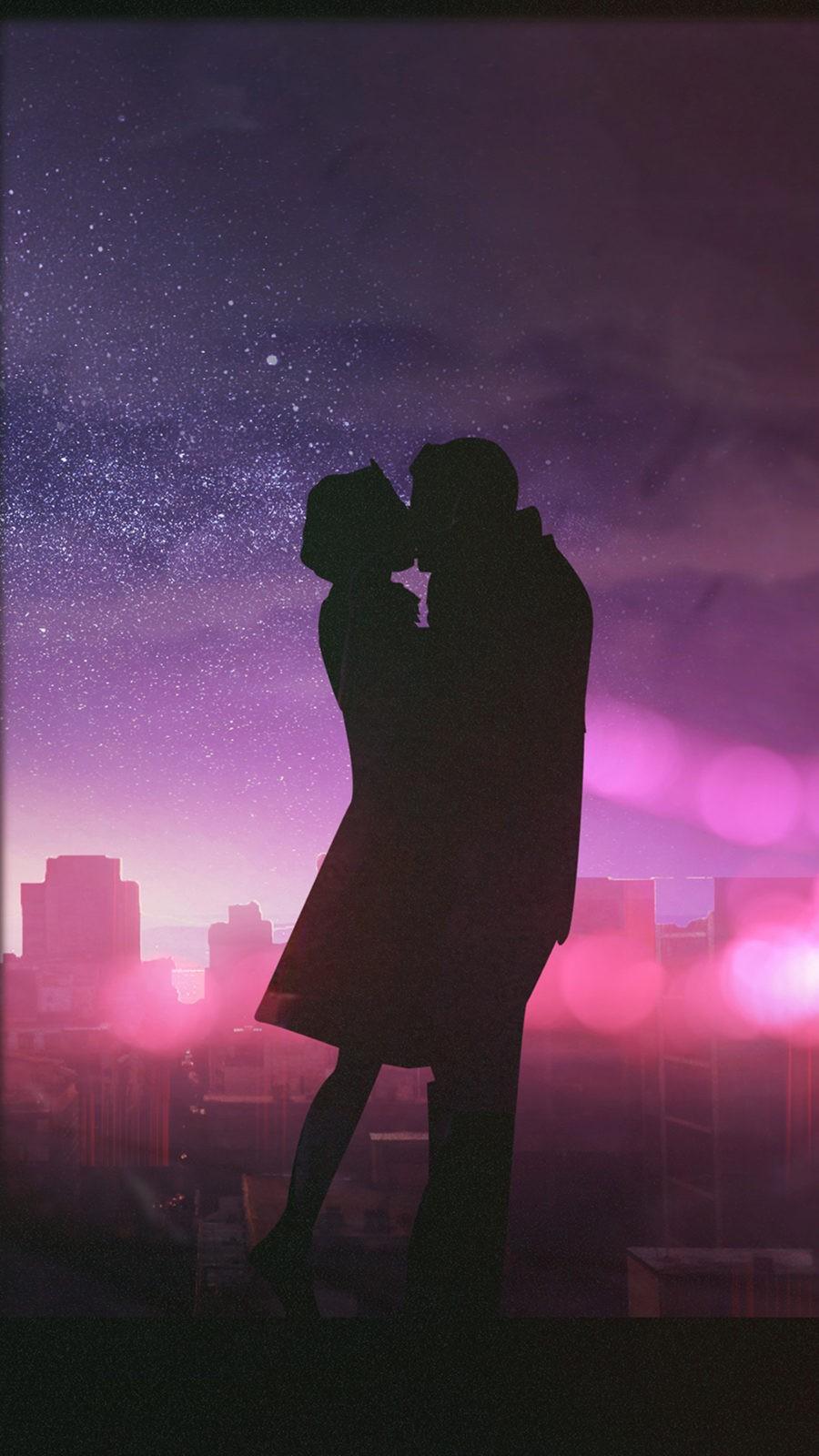 На телефон поцелуй