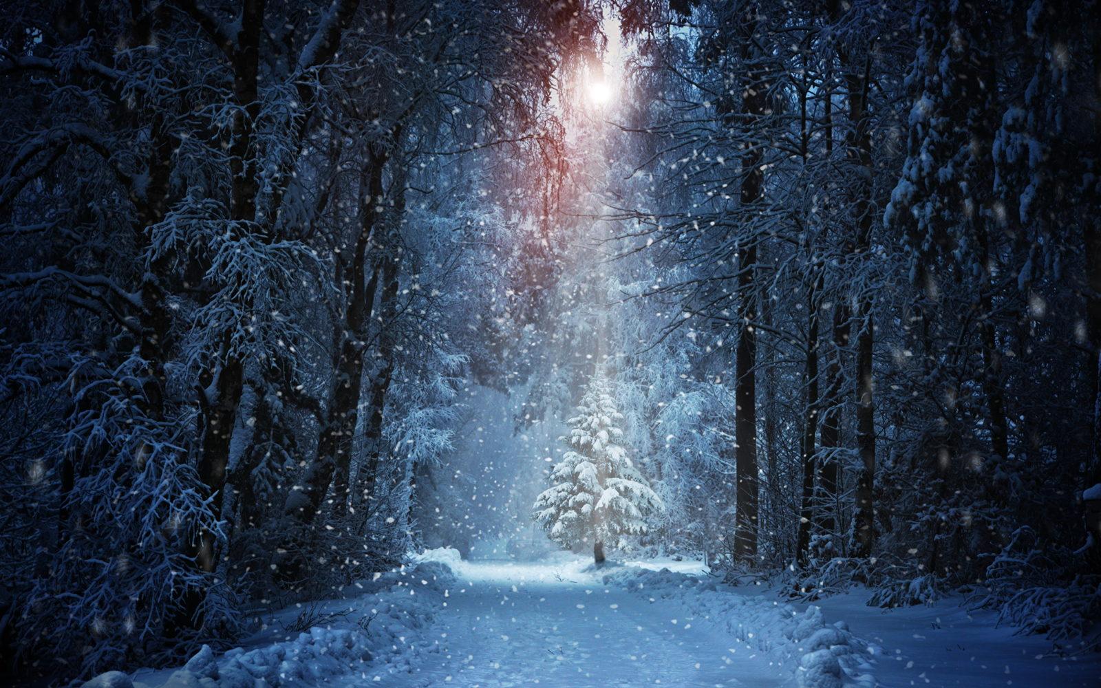 Сказочный зимний пейзаж 11