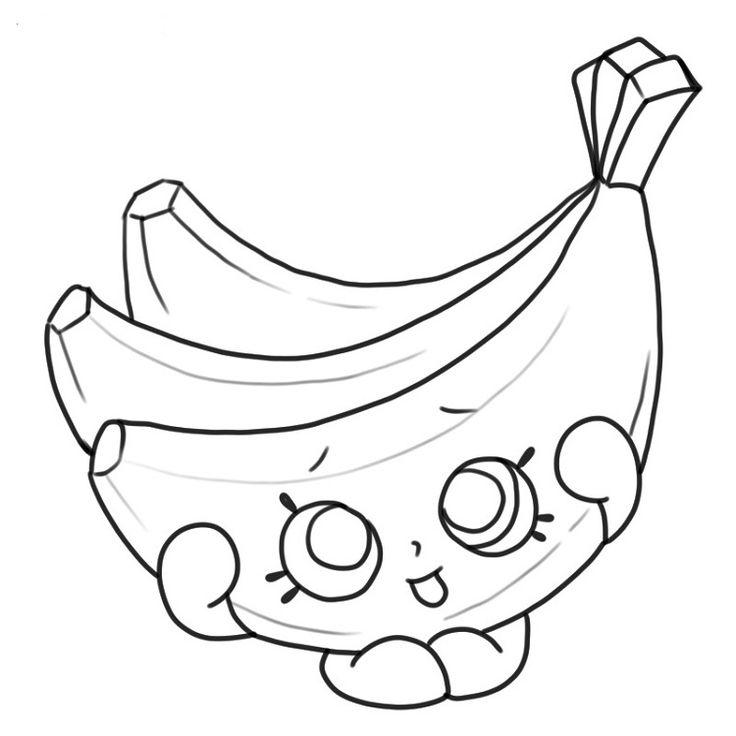 Бананы для раскраски