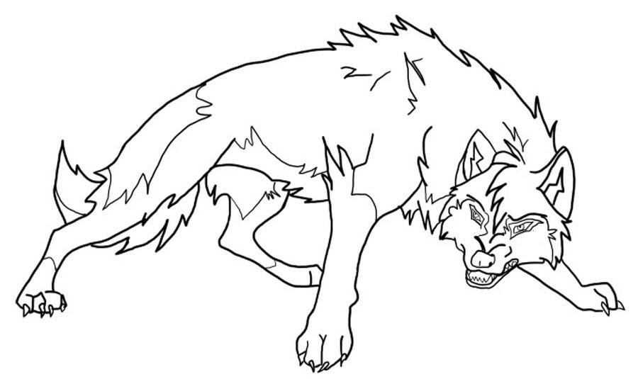 раскраска волк Andrey Eltsov Ru