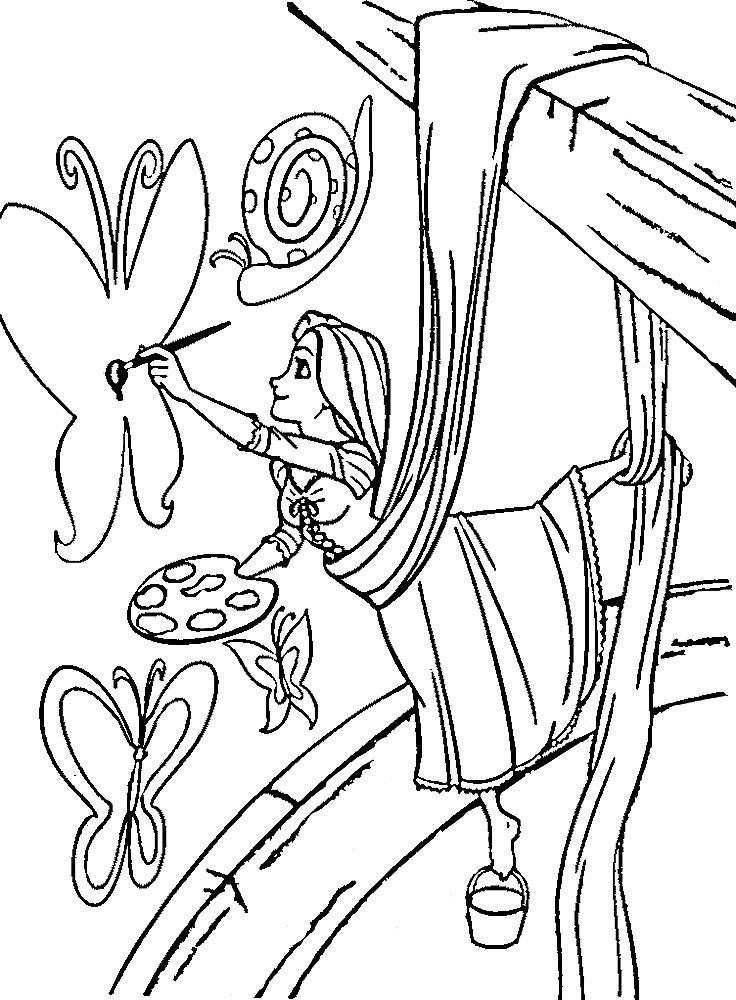 Раскраска Рапунцель 19