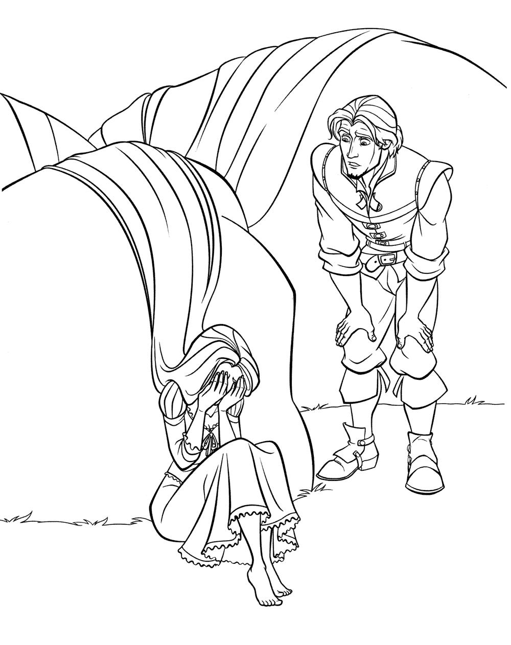 Рапунцель плачет