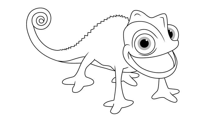 раскраска хамелеон Паскаль