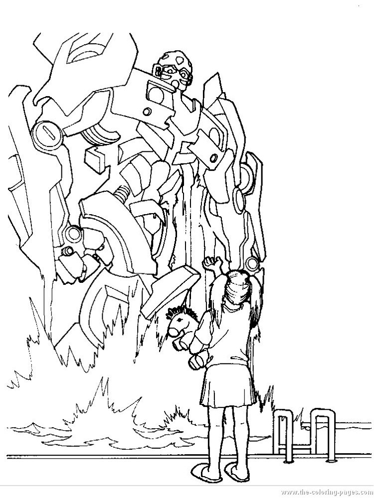 Раскраска Бамблби 11