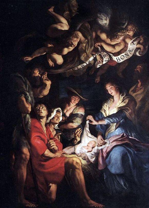 Поклонение пастухов Рубенс