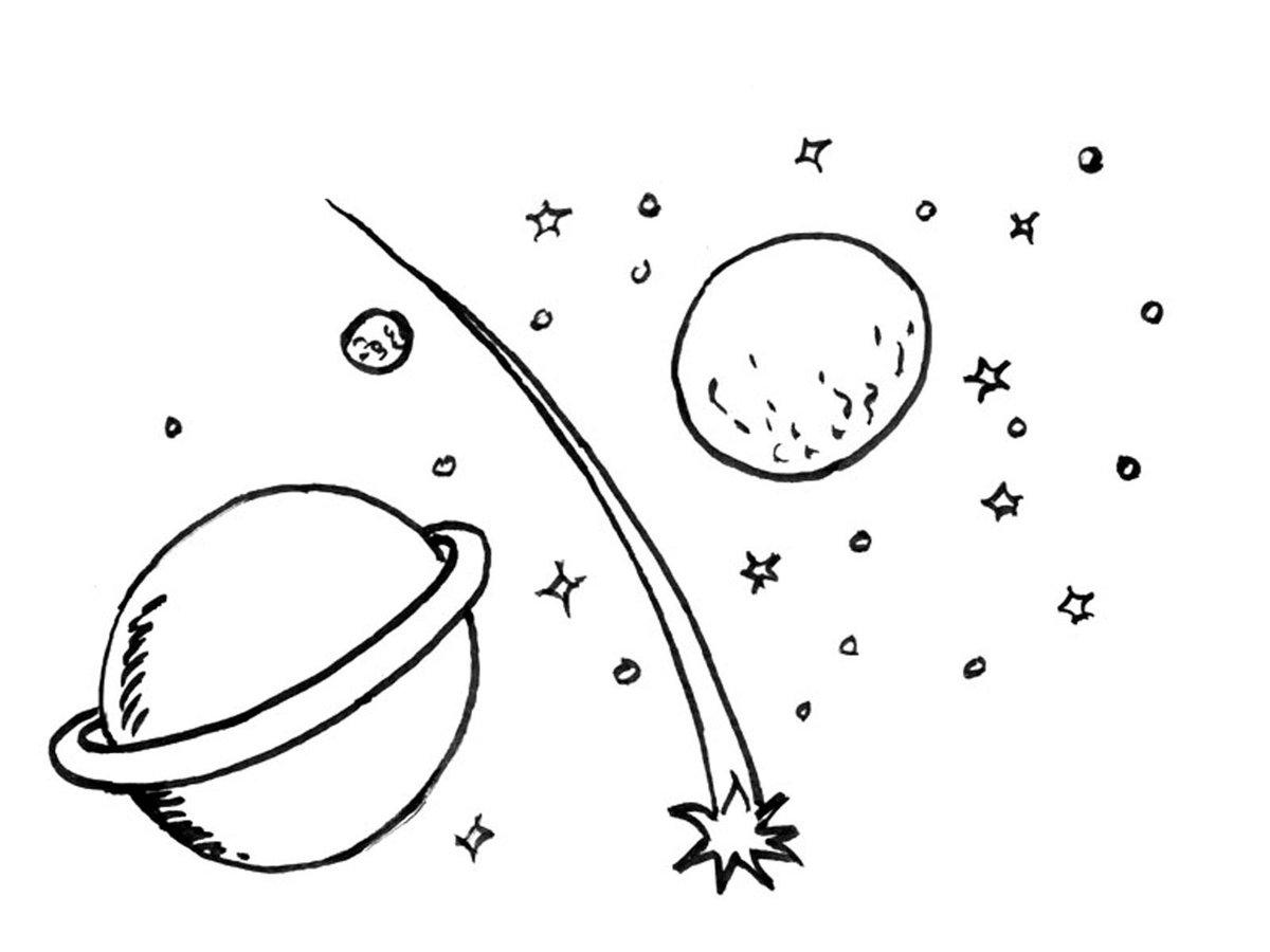Раскраска комета