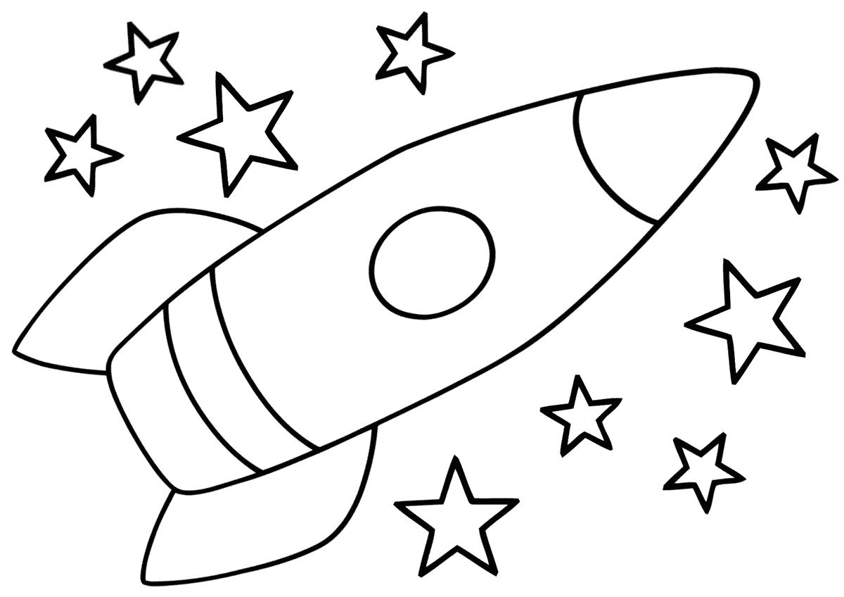 раскраска ракета 8