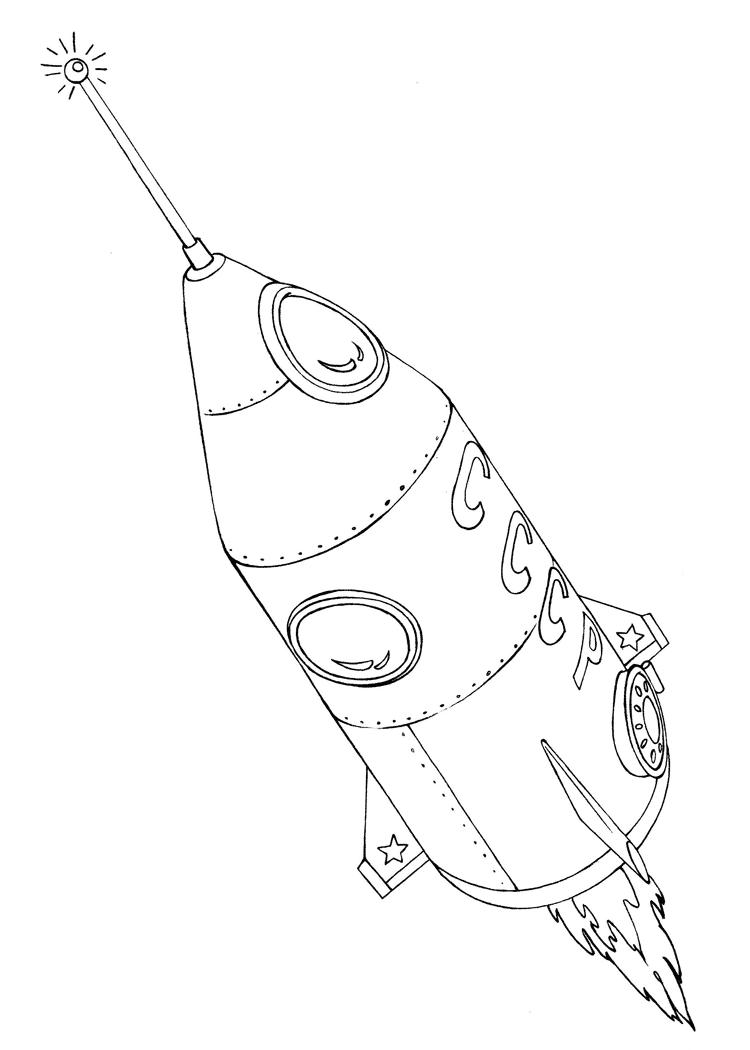 раскраска ракета 5