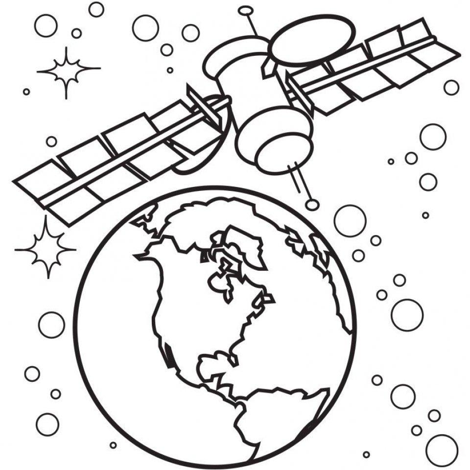 Раскраска космический корабль
