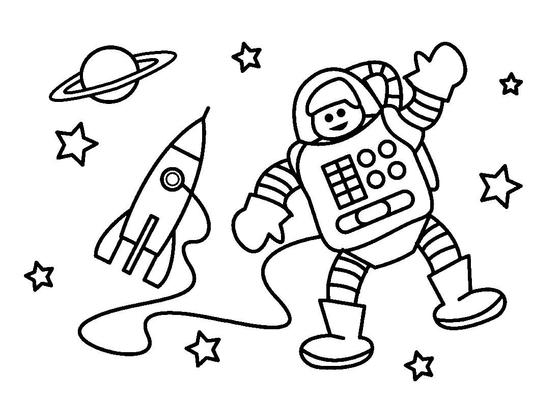 Раскраска космонавт 12