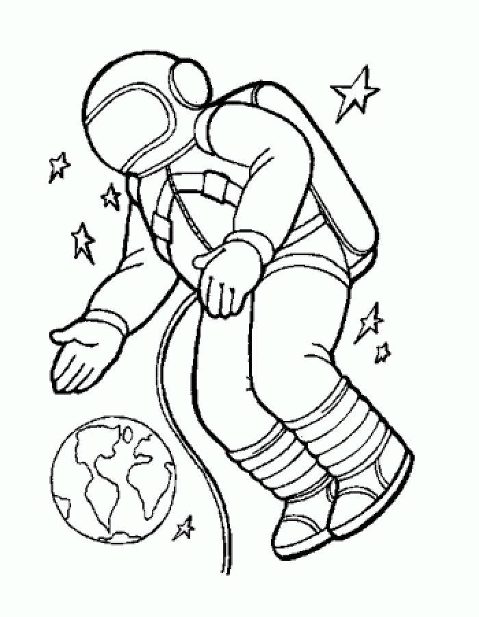 Раскраска космонавт 33