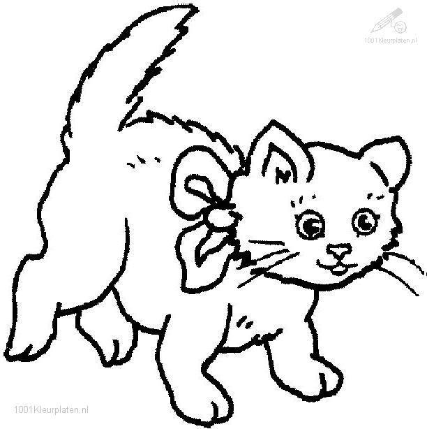 Раскраска кошка 83