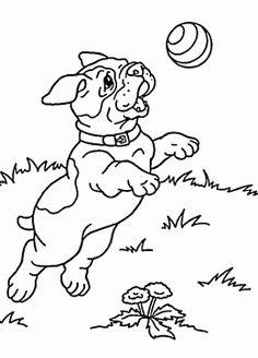 Раскраска собака 70
