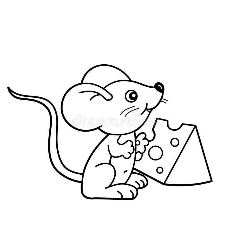 Раскраска мышка 8