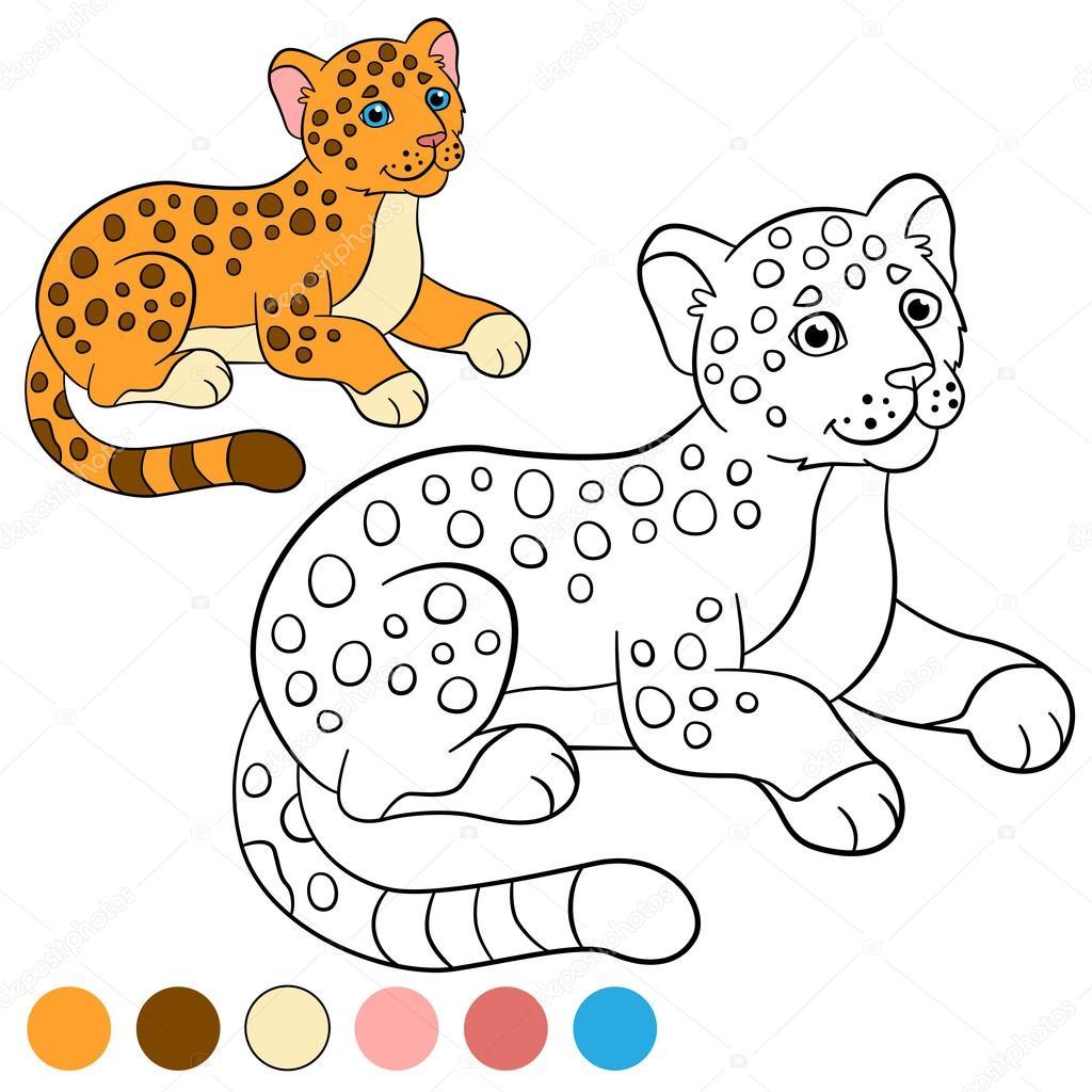 пример раскраски тигра