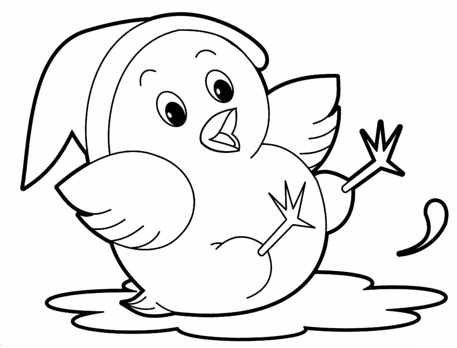 Раскраска цыплёнок 3