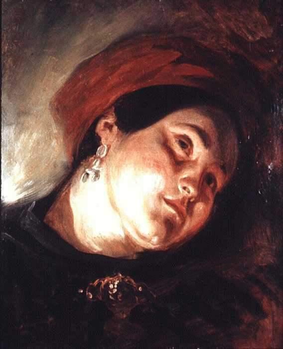 Голова женщины в красном тюрбане