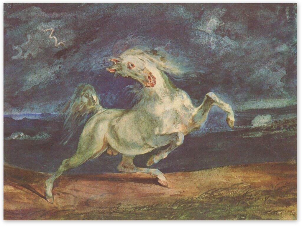 Лошадь, испуганная молнией