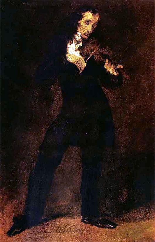 портрет Паганини Делакруа