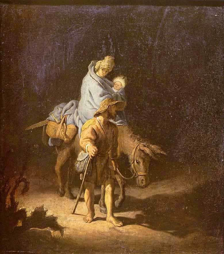 Бегство в Египет Рембрандт