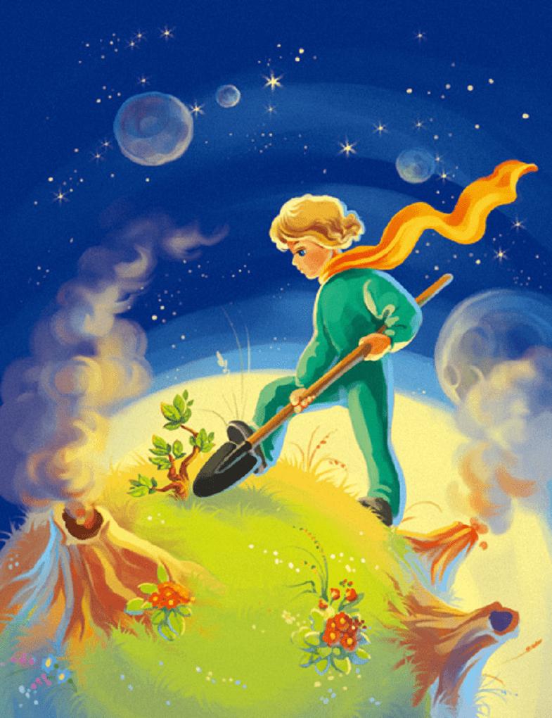 Маленький принц и баобабы