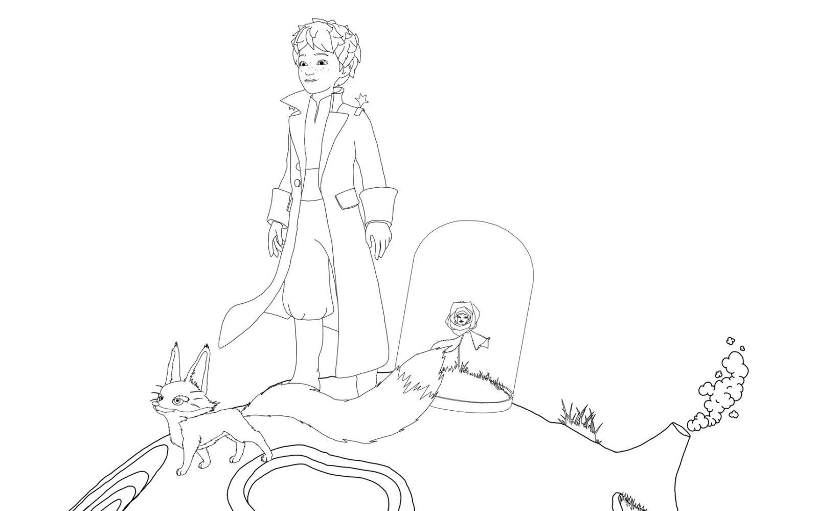 раскраска Маленький принц 16