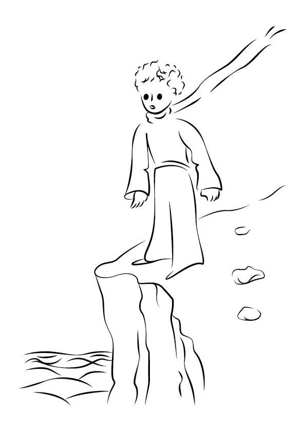 Раскраска Маленький принц 14