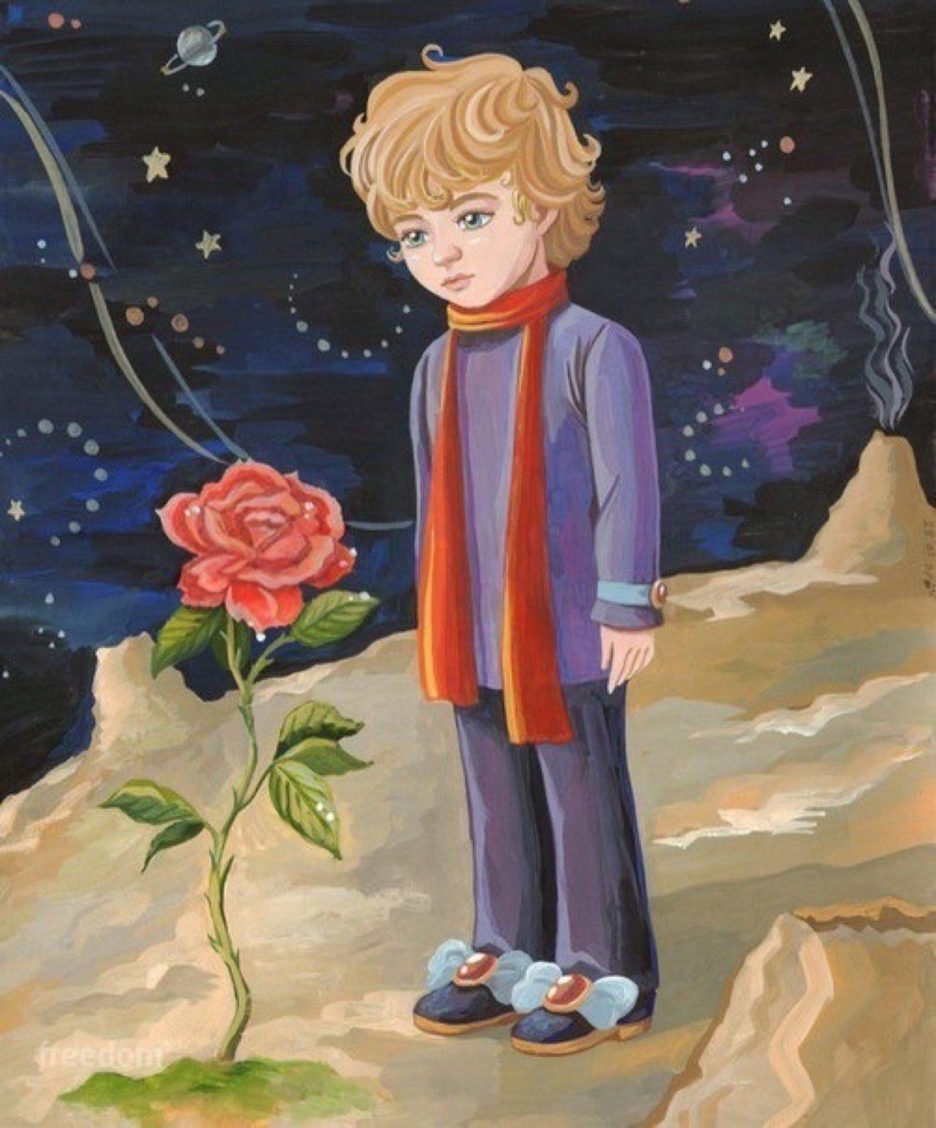 Маленький принц с розой 3