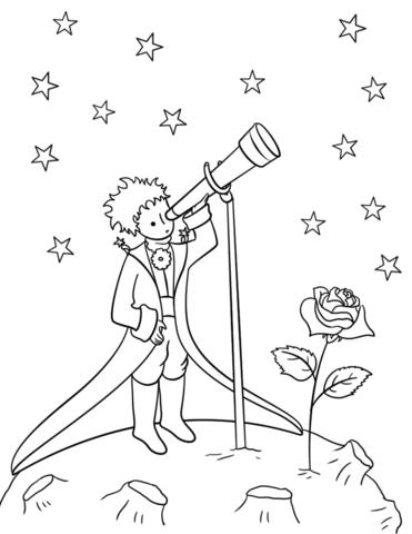 Раскраска Маленький принц 11