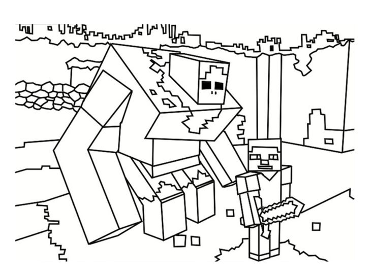 Раскраска Майнкрафт 15