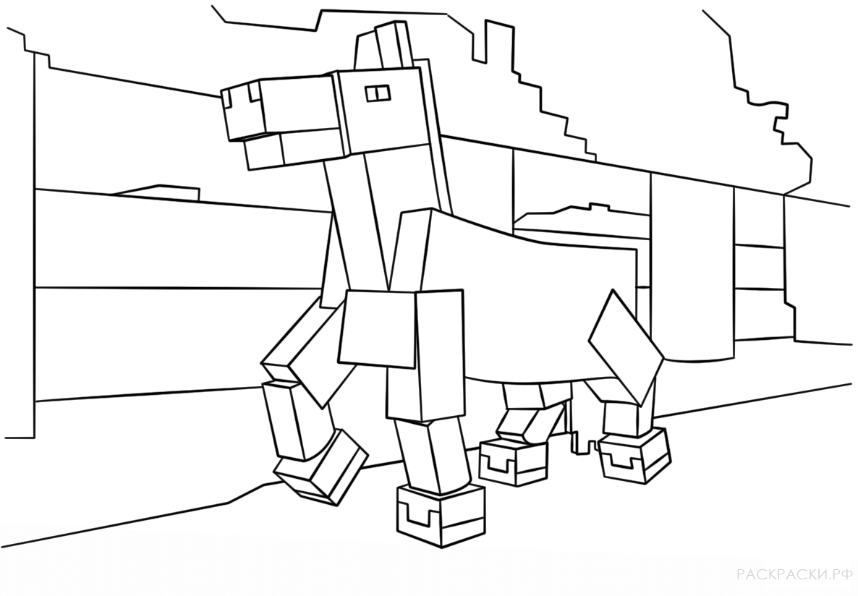 раскраска Майнкрафт 11