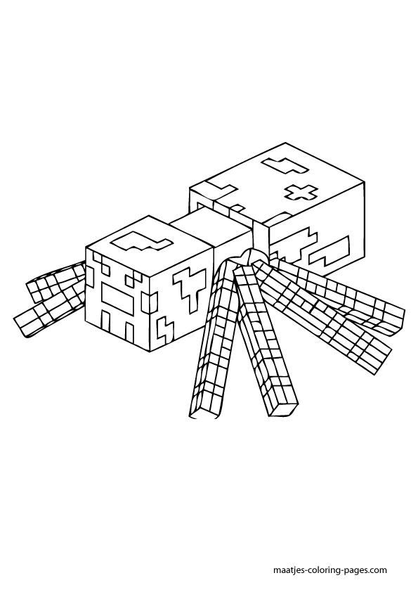 раскраска Майнкрафт 20