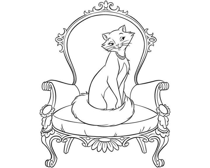 раскраска кошка 20