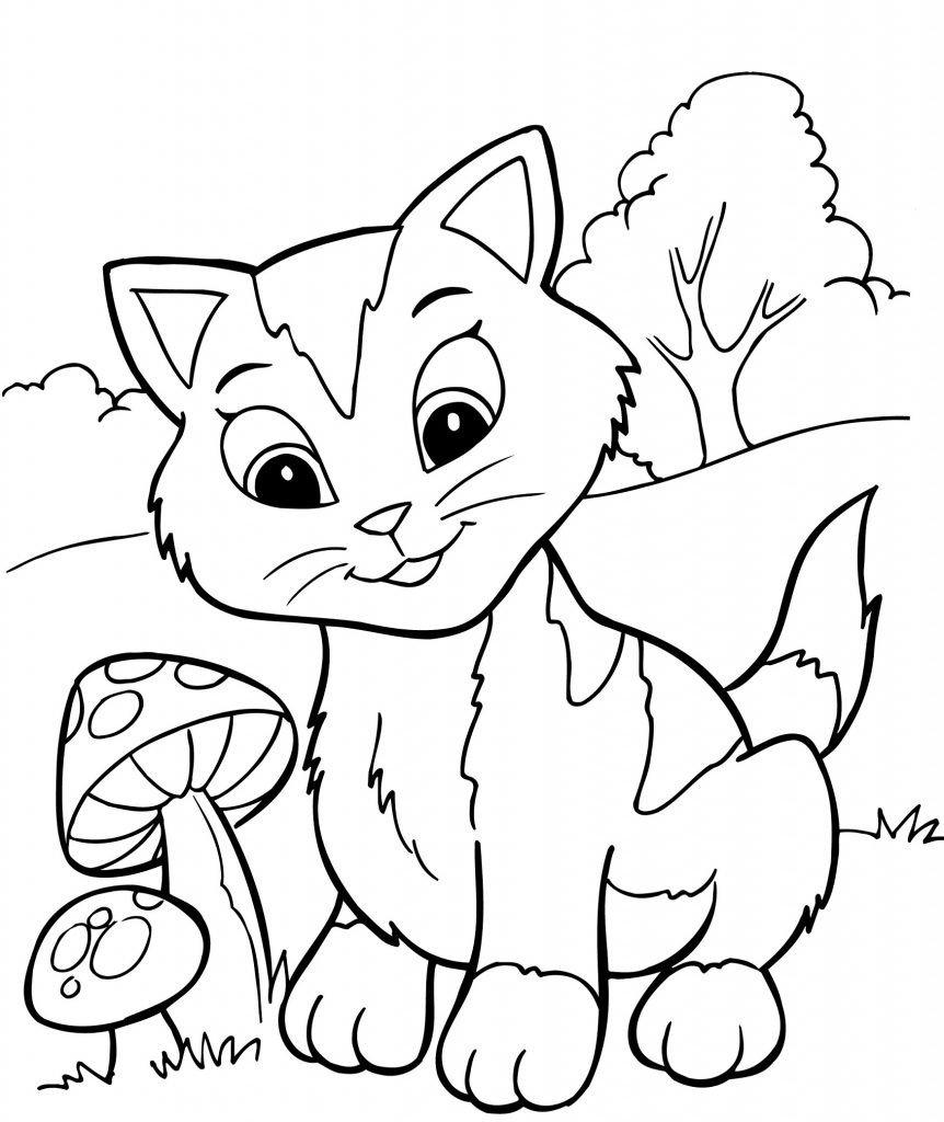 раскраска котёнок 56