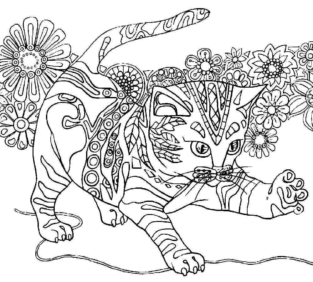 раскраска кошка антистресс 22