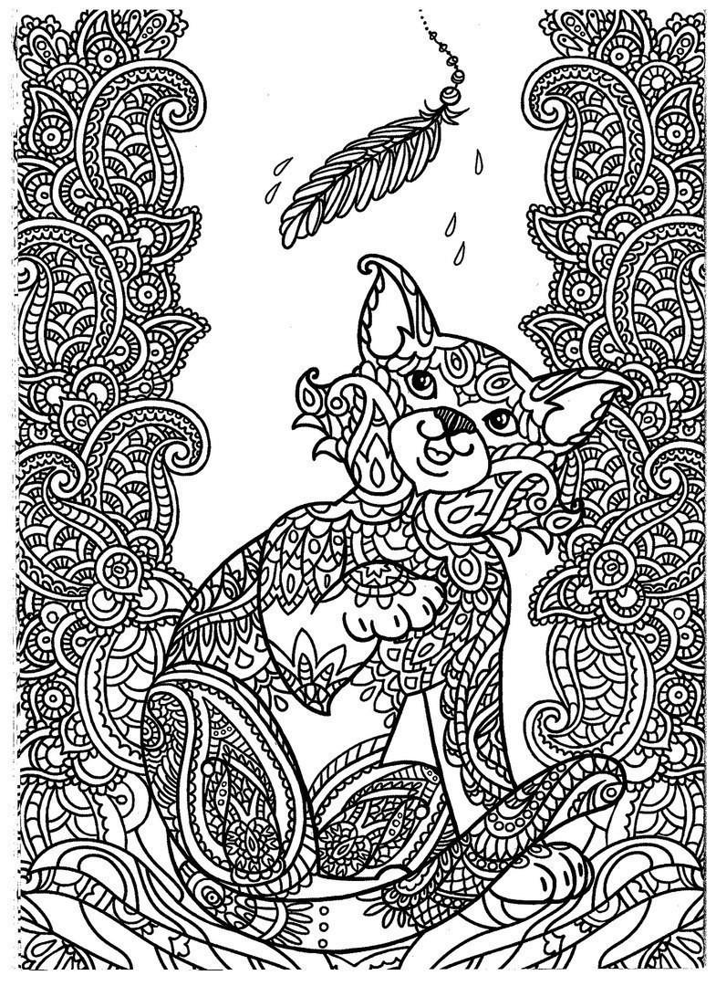 раскраска кошка антистресс 8