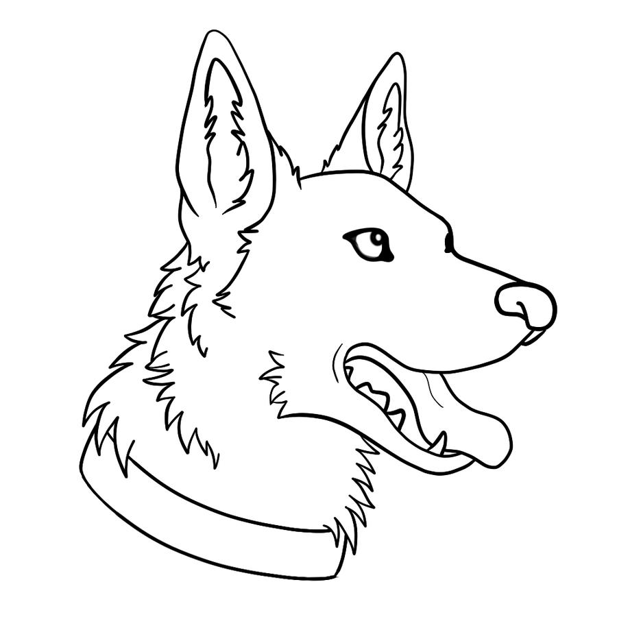 Раскраски собаки немецкая овчарка