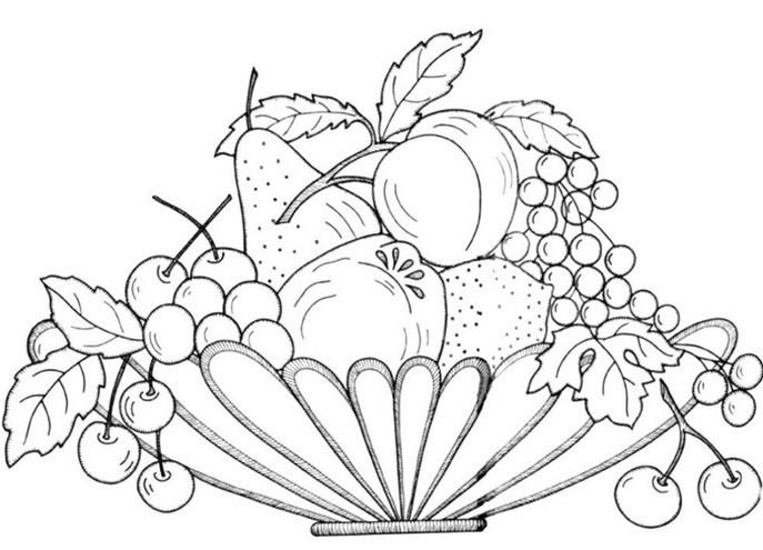 раскраска фрукты 10