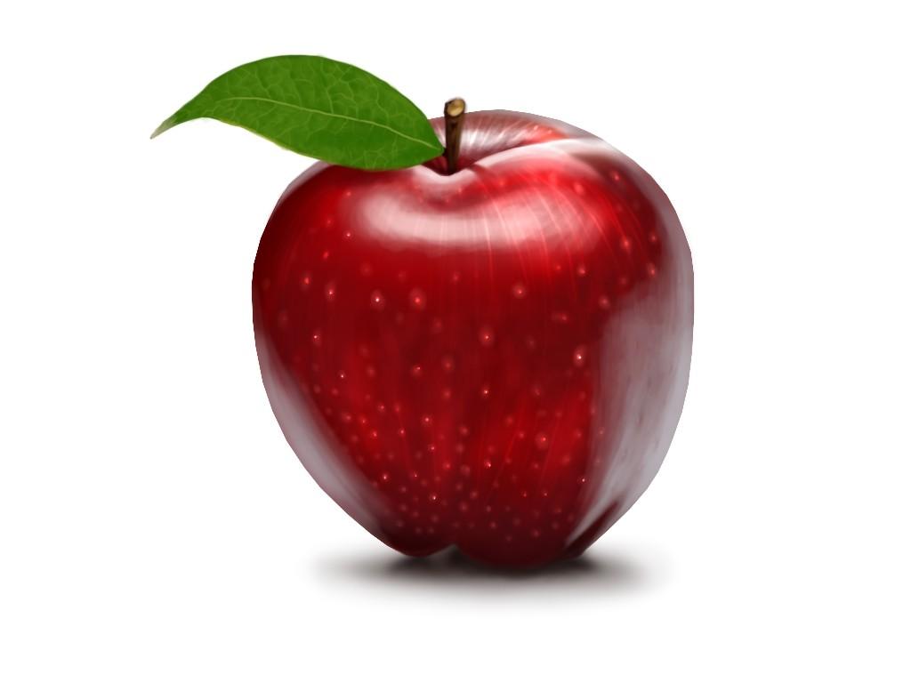 красное яблоко фото
