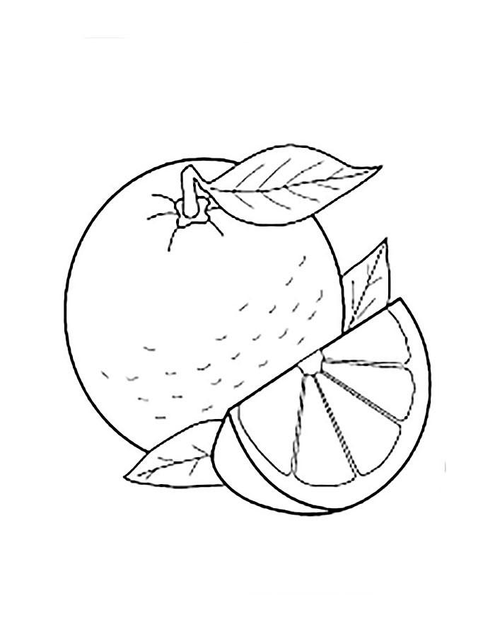 Раскраска апельсин