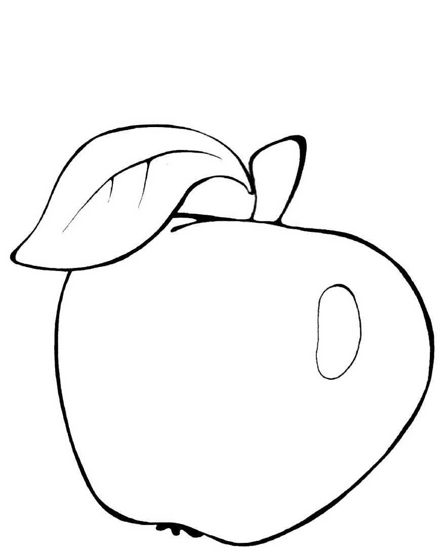 раскраска яблоко 11