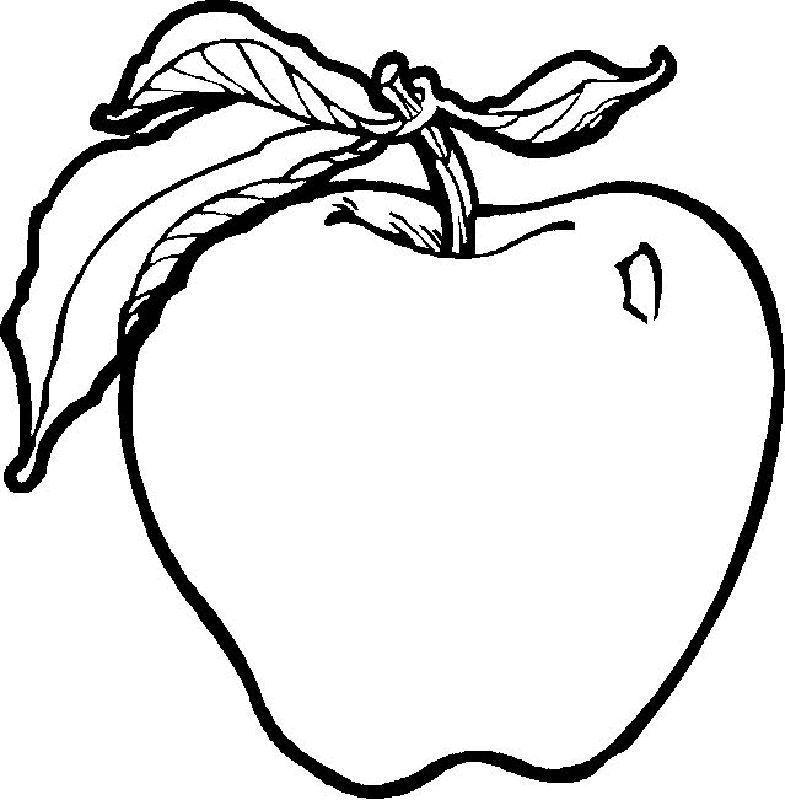 раскраска яблоко 6